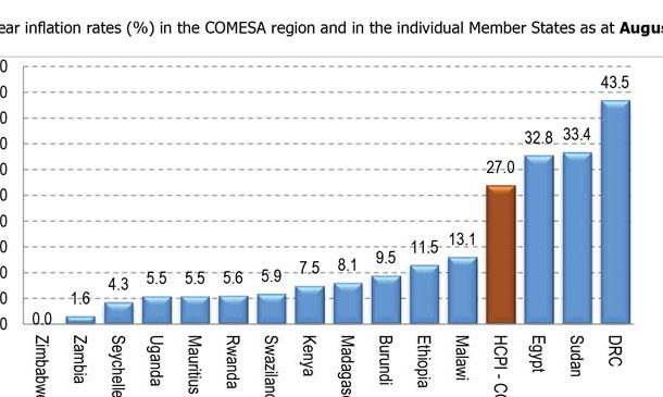 Comesa rates Malawi's inflation 4th highest