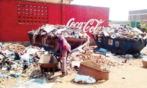 Trash wipes away tears of widow