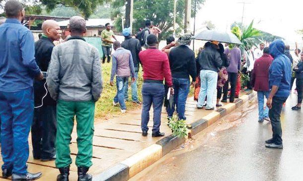 Lazarus Chakwera supporters demonstrate in Mzuzu