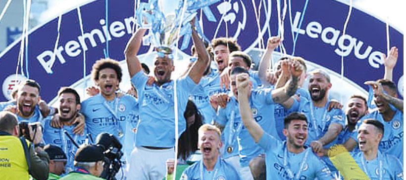 Man City win EPL