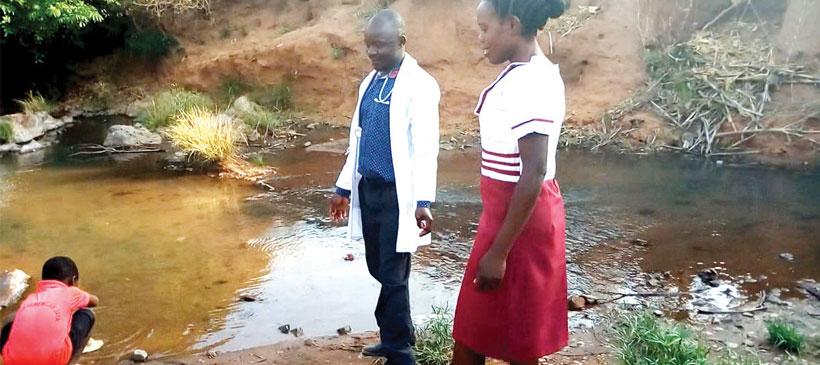 When river serves as post-natal bathroom
